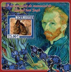 Post stamp Mozambique MOZ 15128 b125th memorial anniversary of Vincent van Gogh (1853–1890. Shoes, 1888)