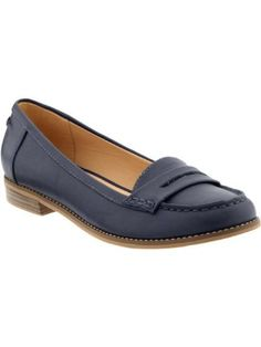 14bcfc68750 Old Navy Women s Penny Loafers Navy Loafers