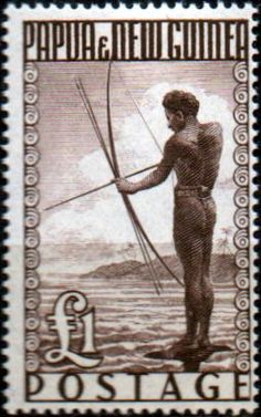 Papua New Guinea 1952 SG 15 Papuan Shooting Fish Fine Used Scott 136 Other Papua New Guinea Stamps HERE