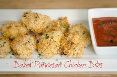 Baked Parmesan Chicken Bites Super delicious and healthy! Lunch Recipes, Dinner Recipes, Cooking Recipes, Healthy Recipes, 21dayfix Recipes, Dinner Menu, Healthy Options, Chicken Bites, Chicken Nuggets