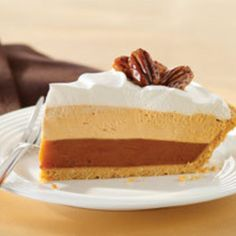 *Jell-O Triple Layer Pumpkin Pie!* JELLO PUMPKIN SPICE PUDDING? Must find this stuff!