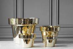 GUBI // GUBI Store - Flower pots - Polished brass - Designed by Monica Förster