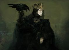 Jeff Simpson did some concept art for Snow White and the Huntsman, including the great early concept for Queen Ravenna