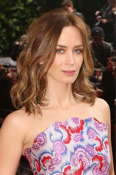 Emily Blunt appears at the premiere of 'Edge of Tomorrow' in London on May 27, 2014.