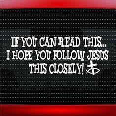 WALKING WITH JESUS Sticker Religious Car Window Vinyl Decal God - Window vinyl stickers