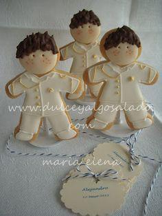 dulce y algo salado-cursos de galletas decoradas: Galletas decoradas para comuniones.