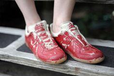 Maison Martin Margiela ketchup red replica sneakers