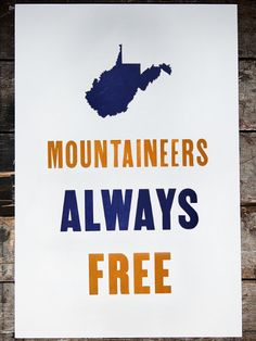 Spruce Knob - WV, West Virginia - Old Try - Letterpress Print