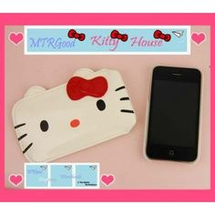 Hello Kitty Leather Pouch Case for iPhone 4 / 3G (Type 1)