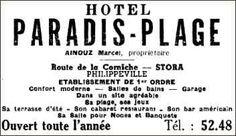 Hôtel PARADIS PLAGE Route de la Corniche - Philippeville