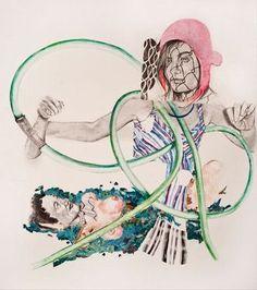 "Saatchi Online Artist Sharon Shapiro; Painting, ""Double Dutch"" #art"