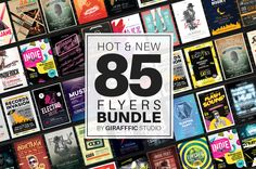 Hot & New 85 Music Flyer Bundle by girafffic on @creativemarket