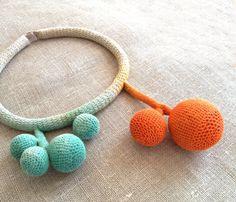 Colar em linho com efeito aguarela by kjoo on Etsy, $290.00