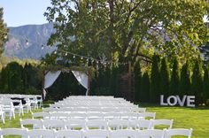 Love Marquee sign outdoor wedding ceremony site Cape Horn Estate - Wedding Venue in the Columbia gorge Portland OR - Vancouver WA