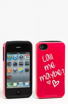 Case-Mate® 'Call Me Maybe' iPhone 4 & 4S Case | Nordstrom Haha I thought this was HILARIOUS! :)