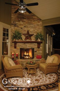 Cashiers Cabin 01470, Deck Fireplace,Terrace Level Plan, Mountain Style House Plans, Cabin Style House Plans