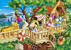 ◆希少品◆300スモールピースジグソーパズル:ツリーハウスへようこそ(ディズニー)《廃番商品》 - 組絵門(くみえもん)