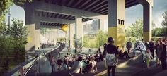 $25-million project reimagines area under Gardiner with paths, cultural spaces - The Globe and Mail