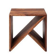 Authentico Cube ZigZag - Sheesham-Holz massiv