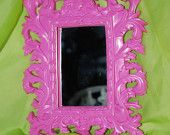 Paint an antique mirror with an unexpected color!