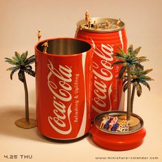 Coke Pool. miniature photography - incredibly enchanting and surreal worlds made of little people - It's a small world afterall! Creative macro lens photography