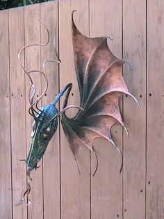 Steampunk Dragon (Wall Sculpture) by Bruce Cockrill (San Ramon)