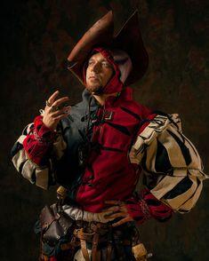 Warhammer Empire LARP landsknecht`s costume made by Necromunda Gangs, Warhammer Fantasy Roleplay, Warhammer Empire, Costume Armour, Armor Clothing, Landsknecht, Cool Masks, Medieval Costume, Renaissance Clothing