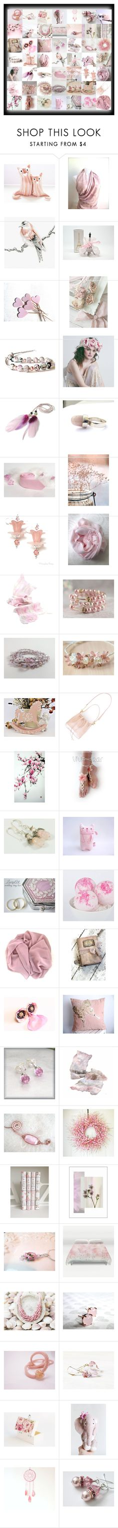 """Pretty in Pink"" by andreadawn1 ❤ liked on Polyvore featuring Cadeau and PINK ANGEL"