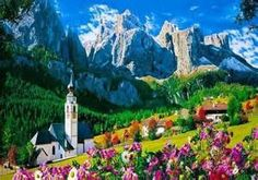 Dolomites in Northern Italy