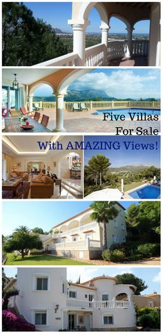 These 5 villas are for sale in the Denia/Javea area and ALL have amazing views! Interested? Click for more info!
