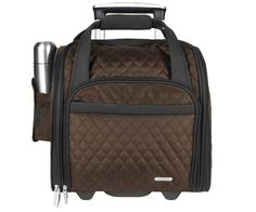 Travelon Wheeled Underseat Carry-On with Back-Up Bag,One Size,Chocolate >>> Be sure to check out this awesome product.