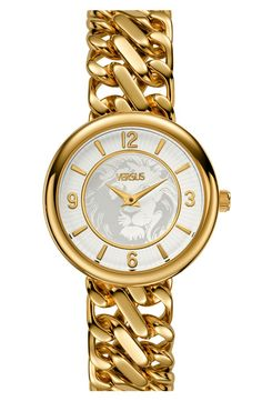 Versus by Versace gold bracelet watch.