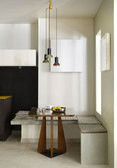 Simple modern banquette