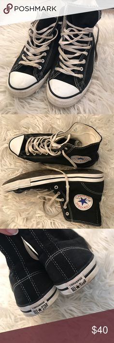 Black high top Converse all stars. Black high top Converse All Stars. Good condition, shoe laces just need washed. Only worn a few times. Converse Shoes Sneakers