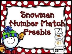 """This is a fun, easy prep """"make a snowman"""" number match. All you need to do is print and cut (easy cut with paper cutter). Students need to build each snowman matching the number, tens frame, and tally mark. Beginning Of Kindergarten, Numbers Kindergarten, Math Numbers, Preschool Math, Teaching Math, Math Activities, Winter Activities, Teaching Resources, Kindergarten Classroom"""