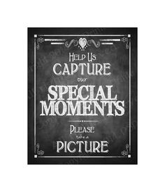 This sign is perfect for your wedding or party if you are using polaroids or disposable cameras and want to make sure your guests understand you