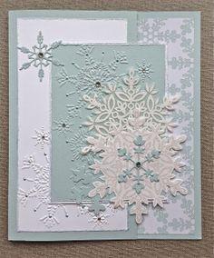 Beautiful Glittery Snowflakes Christmas Card...Jane Goldman: Petite Fleur Paperie.