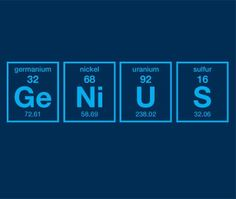 Genius Periodic Table of Elements