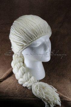 Inspired by Queen Elsa from Frozen Wig Hat | bethscraftshop - Crochet on ArtFire