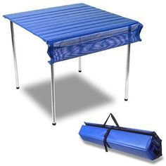 Camp Time Roll-A-Table - we've had ours for at least 10 years and use it often. Still looks great, durable and easy to put together. Camping Items, Camping Gadgets, Camping And Hiking, Camping Life, Family Camping, Camping Hacks, Camping Stuff, Camping Products, Travel Products