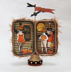 Little Trick or Treaters Halloween Altered Altoid Tin by RackyRoad, $32.00