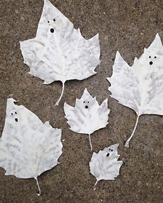 Simple Ghost Leaves DIY from Leah Michaelson of Family