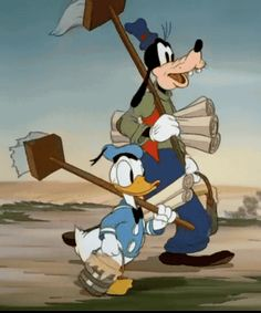 Donald Duck and Goofie ...love this...it's a real GIF to...click it  :)