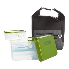 Men's 10 Piece Sporty Lunch Bag Set with Reusable Containers and Ice Pack