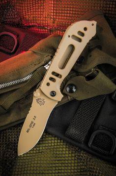 TOPS Knives Mil-Spie 3.5 Hunter Folding Knife in Coyote Tan