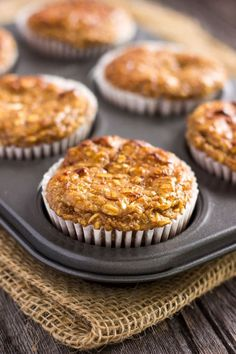 I love these super moist and tender apple protein muffins. Protein-packed, 100% healthy, naturally sweetened with maple syrup and super easy to make!.