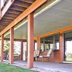 40 Ideas backyard patio roof under decks for 2019 Under Deck Roofing, Patio Under Decks, Decks And Porches, Under Deck Landscaping, Patio Roof, Backyard Patio, Outdoor Patios, Outdoor Living, Outdoor Rooms