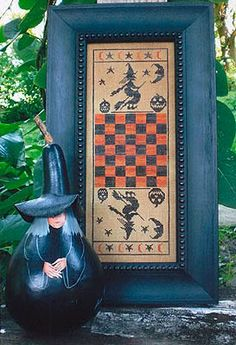 cross stitch pattern & threads  hallow game by thecottageneedle, $38.00