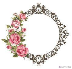 ثيمات قرقيعان جاهزة للطباعة2018 اطارت فوتوشوب للتصميم ثيمات قرقيعان فارغة Flower Frame Flower Frame Png Rose Frame