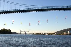 Shame on the authorities: Protesters Dangle From Bridge to Prevent Shell Oil Ship's Departure (Updated) Portland, Icebreaker, Environmental Issues, Activists, Social Issues, Arctic, Habitats, Planets, Bridge